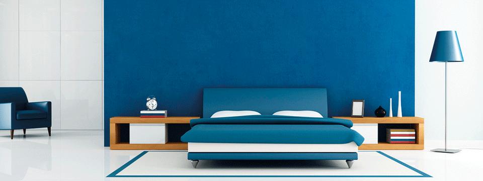 Blauwe slaapkamer   MAX Magazine